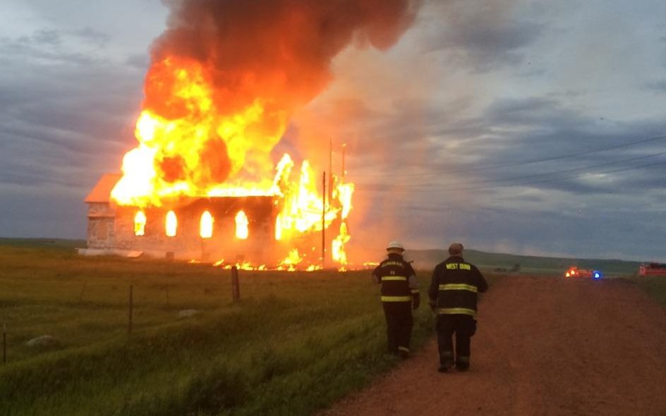 Century-Old Dunn County Church Destroyed inFire